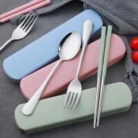 户外旅行便携餐具 不锈钢餐具组套装简约便捷式勺子筷子叉创意小礼品