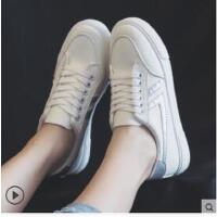 新款女帆布鞋原宿ulzzang学生韩版百搭小白鞋ins超火板鞋