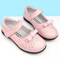 女童真皮小皮鞋儿童皮表演鞋黑色红色春季新款牛皮软底校鞋