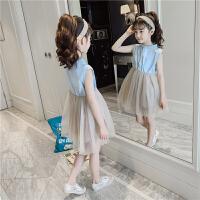 女童连衣裙夏装2019新款儿童公主裙中大童夏季时髦裙子