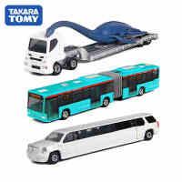 正品TOMY多美卡长款仿真合金奔驰客车巴士凯迪拉克运输车男孩玩具