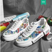 男鞋夏款潮鞋网红同款时尚户外新品新款韩版潮流青春鞋子男士个性百搭学生帆布板鞋