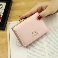 钱包女短款 韩版小钱包爱心迷你新款钱夹女士钱包女 粉色 小猫