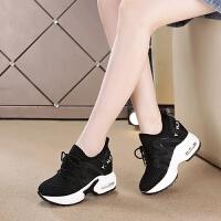 内增高女鞋坡跟小白鞋女秋季2018新款韩版运动鞋女休闲巴巴克