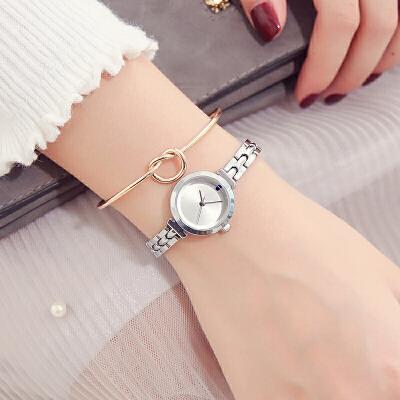手表女韩版简约休闲学生手链表时尚小表盘石英表防水链条表