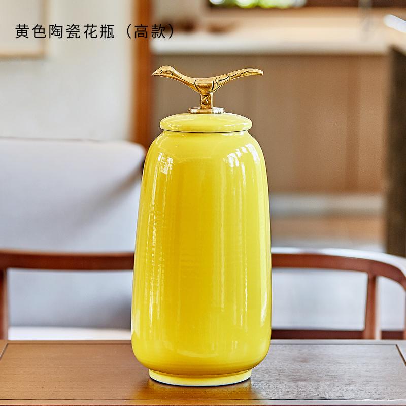 新中式奢华古典陶瓷花瓶摆件大号家居样板房软装饰工艺品欧式摆设 古典欧式精美奢华家居装饰