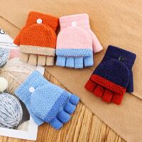 儿童手套冬季加厚保暖女童男孩小学生中童针织毛线小孩写字做作业