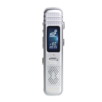Shinco/新科X6插卡录音笔32G可换卡 远距复读外放MP3播放器 银色