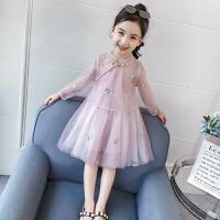 女童套装裙春装儿童吊带裙子民族风两件套