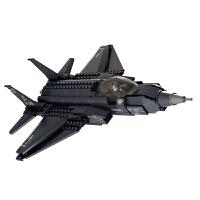 闪电F-35战斗机 小鲁班积木拼插军事模型6-8-10岁儿童益智玩具男孩子