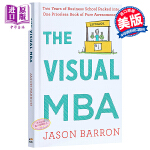 【中商原版】图解MBA 英文原版 The Visual MBA Jason Barron Houghton Miffl