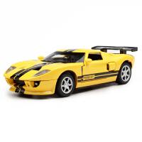 仿真声音灯光回力开门儿童玩具车彩珀福特GT跑车合金汽车模型