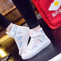 秋季新款帆布鞋女生高帮少女初中高中学生板鞋潮大码40码