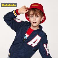 巴拉巴拉男童外套童装中大童新款春季儿童棒球服夹克两面穿潮