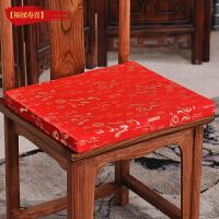 定制红实木家具仿古坐垫中式沙发垫椅子坐垫椅垫加厚餐桌椅垫子y