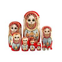 俄罗斯十层套娃手工情人节新年礼物哈尔滨旅游纪念工艺品