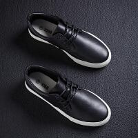 新款男板鞋男韩版潮流休闲鞋低帮学生百搭英伦鞋子系带轻便潮鞋 黑色 657w