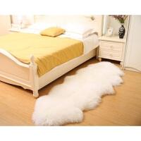 整张羊皮羊毛沙发垫卧室地毯床边客厅房间铺满沙发垫欧式飘窗坐垫s 黄冠8p 200*180