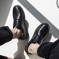 韩版潮流休闲皮鞋男秋季日系街拍百搭鞋子男学生青少年低帮潮男鞋