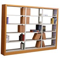 图书馆书架 钢木书架钢制铁皮图书馆书架阅览室陈列展示架书店学校图书室书架