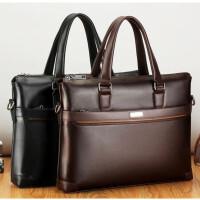 茉蒂菲莉 男士公文包 新款男包手提包斜跨单肩电脑包男士商务包