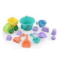 儿童沙滩玩具车套装宝宝挖沙漏铲子工具戏水玩具