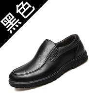爸爸鞋2019春季新款男士休闲商务皮鞋男鞋软底中老年鞋子