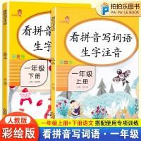 看拼音写词语生字注音一年级上册下册全套2本 部编人教版