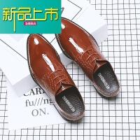 新品上市男士新款春夏季英伦雕花尖头商务正装韩版休闲皮鞋男