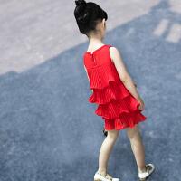 女童�B衣裙夏�b�和�的公主裙雪�����裙子小女孩童�b