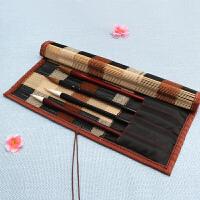 品轩阁-竹袋笔帘笔挂-黑白配(9袋)