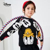 【今日3折�A估�r:68.1元】迪士尼男童冬季加厚��毛衣2020新款�和������r尚卡通洋�饷�衫潮