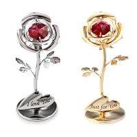 美女与野兽小玫瑰花摆件采用施华洛世奇元素创意母亲节礼物