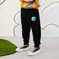【秒杀价:153元】马拉丁童装男大童裤子春装2020年新款针织长裤百搭儿童裤子