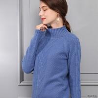 2018秋冬新款羊绒衫女纯羊绒毛衣厚套头半高领修身短款打底衫