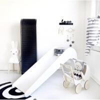 定制木质滑梯室内滑滑梯儿童房装饰搭配拍照大件道具 白色