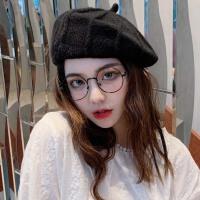 贝雷帽女夏季薄款秋冬季韩版帽子日系针织毛线帽潮ins画家八角帽