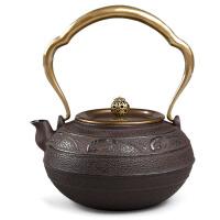 铁茶壶日本南部生铁壶茶具烧水煮茶老铁壶铸铁茶壶电陶炉日本南部壶手工礼品茶具铸铁壶无涂层 铁水壶