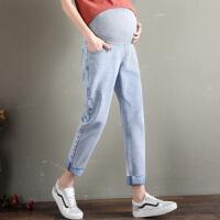 孕妇牛仔裤子外穿春夏时尚打底裤长裤春秋季薄款潮妈秋装