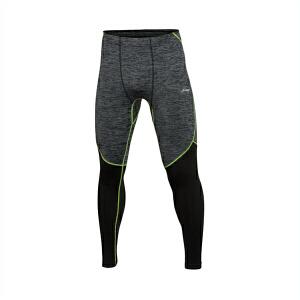 李宁健身裤男士跑步系列紧身反光跑步服针织春季运动裤AULL003