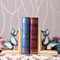 蝴蝶书挡摆件创意家居装饰品书房摆设工简约书靠书立
