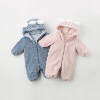 davebella戴维贝拉童装冬季新款男女宝宝新生婴儿连体衣DBH11924