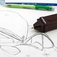 日本进口Seed 电动橡皮附带可以擦圆珠笔钢笔的电动橡皮擦芯