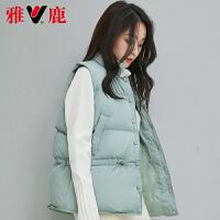 yaloo/雅鹿羽绒马甲女短款韩版冬装宽松面包服加厚保暖冬季外套潮