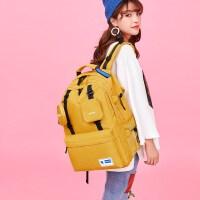 明星同款2021新款潮牌双肩包女大容量旅行包电脑包百搭大学生书包