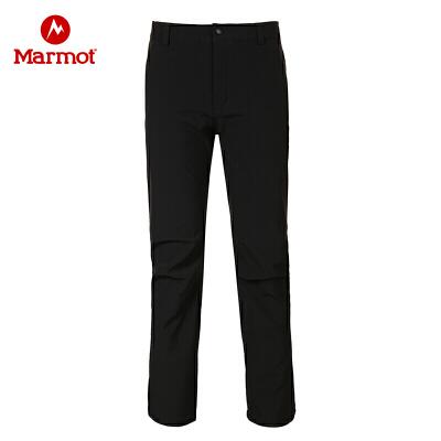 Marmot/土拨鼠春夏款防泼水耐磨透气保暖M1男士软壳裤 VIP专享96折