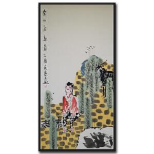 中国美术家协会会员、陕西连环画艺术委员会委员 刘永杰《秦川孟》