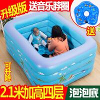 家用充气幼儿童宝宝洗澡桶加厚保温游泳戏水池浴盆新生婴儿游泳池