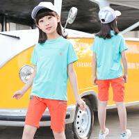 新款女童速干衣套装夏季短袖乒乓球运动服中大儿童羽毛球服两件套