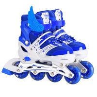 溜冰鞋儿童全套装男女轮冰鞋轮滑鞋可调闪光